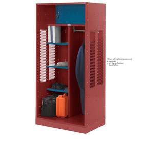 Penco 6WTDA10C722 Patriot Turnout Welded Locker 30x24x76 Patriot Red