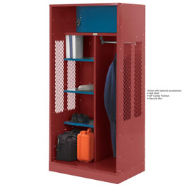 Penco 6WTDA30C722 Patriot Turnout Welded Locker 42x24x76 Patriot Red