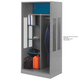 Penco 6WTDA40C028 Patriot Turnout Welded Locker 48x24x76 Gray