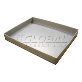 Rotationally Molded Plastic Tray 23-3/4 X17x2-1/4 Gray