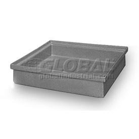 Rotationally Molded Plastic Tray 20 X20x4-1/2 Gray