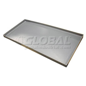 Rotationally Molded Plastic Tray 39 x18-3/4 x 1-1/2 Gray
