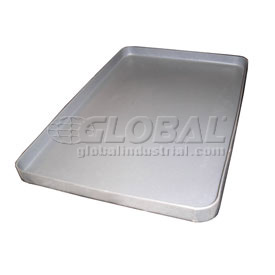 "Rotationally Molded Plastic Tray 38-1/2"" x 27-1/2"" x 2"" Gray"