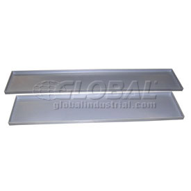 Rotationally Molded Plastic Tray 64-1/2x12-1/2x1-1/2 Gray