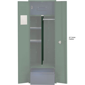 Penco 6CPX270C812 Center Partition For Patriot Locker with Bottom Shelf, 15x45 Green
