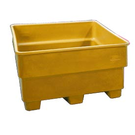 Bayhead SNP-24-YELLOW Nesting Pallet Container 43x43x24 600 Lb Cap. Yellow