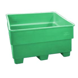 Bayhead SNP-24-GREEN Nesting Pallet Container 43x43x24 600 Lb Cap. Green