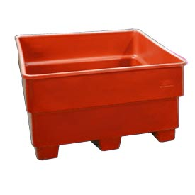 Bayhead SNP-33-RED Nesting Pallet Container 43x43x33 1000 Lb Cap. Red