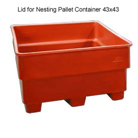 Bayhead SNP-LID-RED Lid For Nesting Pallet Container 43x43 Red