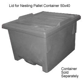 Bayhead KP-LID-GRAY Lid for Nesting Pallet Container 50x40 Gray
