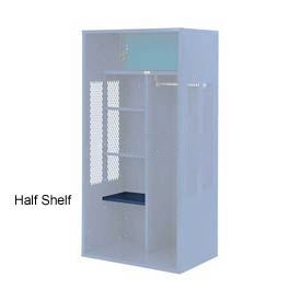 Penco 6SHX525C806 Half Shelf For Patriot Locker, 24Wx15D Marine Blue