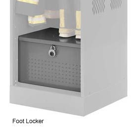 Penco 6ACXAB93H028 Foot Locker For Patriot Locker, 24x24x12 Gray