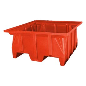 Bayhead SKA-1-RED Stacking Pallet Container 40x39x20 600 Lb Cap Red