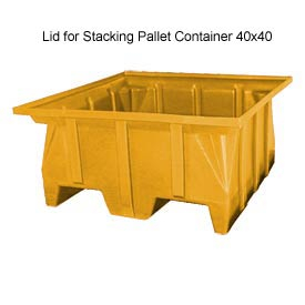 Bayhead SKA-LID-YELLOW Lid For Stacking Pallet Container 40x40 Yellow