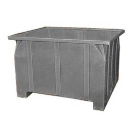 Bayhead GG-24-GRAY Stacking Pallet Container 47x42x24 800 Lb Cap. Gray