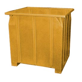 Bayhead GG-48-YELLOW Stacking Pallet Container 47x42x48 1200lb Cap. Yellow