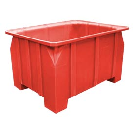 Bayhead DP-28-RED Stacking Pallet Container 48x36x28 1000lb Cap. Red