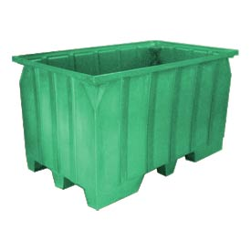 Bayhead AT7040-GREEN Stacking Pallet Container 73x43x42 1500lb Cap. Green