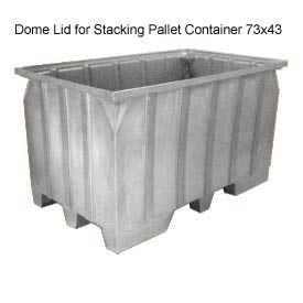 Bayhead AT-LID-GRAY Dome Lid for Stacking Pallet Container 73x43 Gray