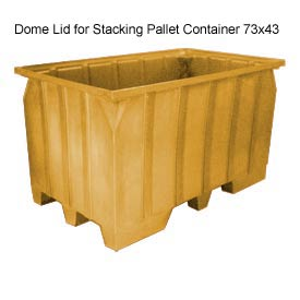 Bayhead AT-LID-YELLOW Dome Lid For Stacking Pallet Container 73x43 Yellow