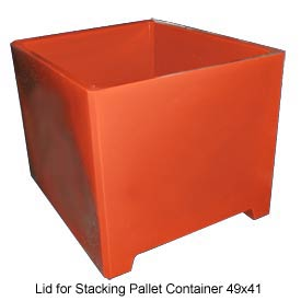 Bayhead DWP-37-LID-RED Lid For Stacking Pallet Container 49x41 Red