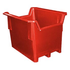 Bayhead DSC-1RED Double Hopper Front Plastic Container 28x21x20 400 Lb Cap. Red