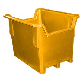 Bayhead DSC-1YELLOW Double Hopper Front Plastic Container 28x21x20 400 Lb Cap. Yellow