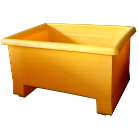 Bayhead TEX-24YELLOW Stacking Plastic Container 32x24x18 600 Lb Cap. Yellow