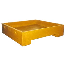 Bayhead DWP-11YELLOW Stacking Plastic Container 45x45x11 600 Lb Cap. Yellow