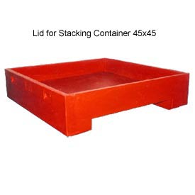 Bayhead DWP-11-LIDRED Lid For Stacking Container 45x45 600 Lb Cap. Red