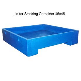 Bayhead DWP-11-LIDBLUE Lid For Stacking Container 45x45 600 Lb Cap. Blue