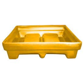 Bayhead MMPC-1YELLOW Low-Walled Container 61x51x15 1000 Lb Cap. Yellow