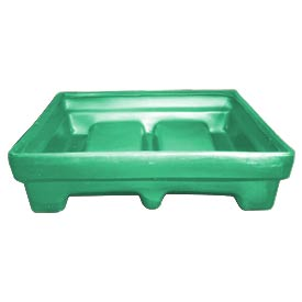 Bayhead MMPC-1GREEN Low-Walled Container 61x51x15 1000 Lb Cap. Green