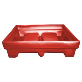 Bayhead MMPC-2RED Low-Walled Container 65x51x15 1000 Lb Cap. Red
