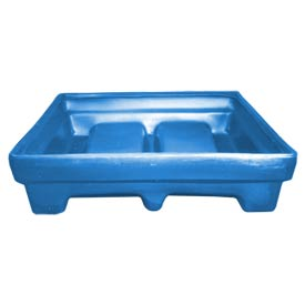 Bayhead MMPC-2BLUE Low-Walled Container 65x51x15 1000 Lb Cap. Blue