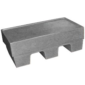 Bayhead SP-5-GRAY Low-profile Container with Lid 30x18x10 500 Lb Cap. Gray