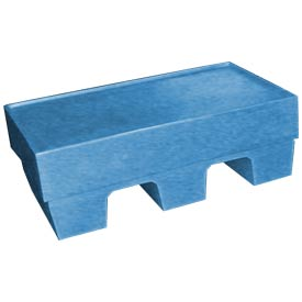 Bayhead SP-5BLUE Low-Profile Container With Lid 30x18x10 500 Lb Cap. Blue