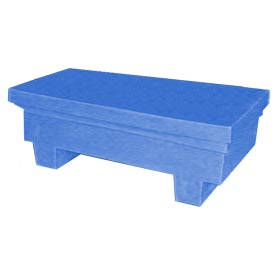 Bayhead EW-4ExBLUE Low-Profile Container With Lid 33-1/2x17x11-1/2 300 Lb Cap. Blue
