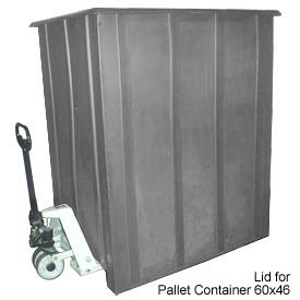 Bayhead LMM-LIDGRAY Lid for Pallet Container 60x46 Gray 1500 Lb Cap. Gray