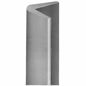 Durable Gray Rubber Corner Guard CG-1, Sold per Foot up to 10 Foot Length Maximum