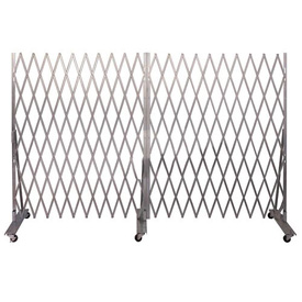 Folding Security Gate 6'Hx12'W In-Use