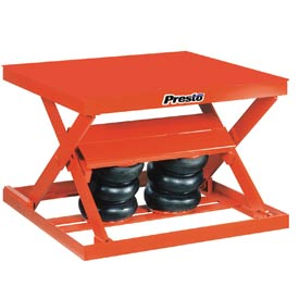 PrestoLifts™ Air Bag Pneumatic Scissor Lift Table AX20-4848 2000 Lb. Cap.