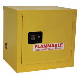 "Global&#8482 Slim Flammable Cabinet BJ6 - Self Close Single Door - 6 Gallon - 23""W x 18""D x 22""H"