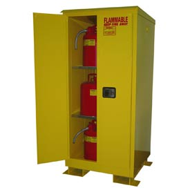 Flammable Safety Cabinet with Roof - 60 Gallon Self Close Doors