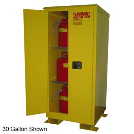 Flammable Safety Cabinet with Roof - 90 Gallon Manual Doors