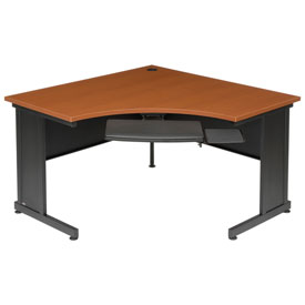 "Interion™ 48"" Corner Desk Cherry"