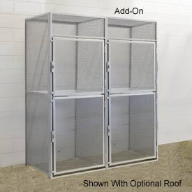 Hallowell BSL366090-R-2A-PL Bulk Tenant Storage Locker Double Tier Add-On 36x60x45