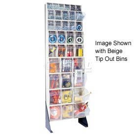 "Quantum Tip Out Bin Floor Stand QFS170-36- Single Sided 70"" H White"