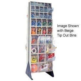 "Quantum Tip Out Bin Floor Stand QFS270-72- Double Sided 70"" H Gray"
