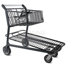 VersaCart® Home Center Steel Shopping Cart Dark Gray 101-848-C-DGY 1200 Lb.